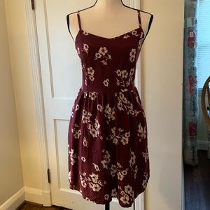 Garage floral mini dress with stretch back